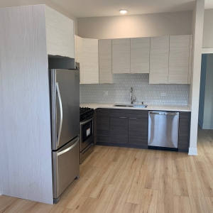 painting cabinets of Chicago home