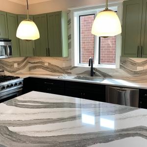 progress  of kitchen cabinets refinishing Chicago