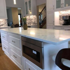 progress of kitchen cabinet refacing Chicago
