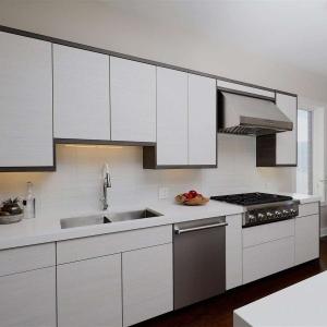 installing kitchen cabinets in progress